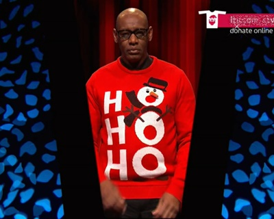 Shaun Wallace Text Santa 2015 special picture